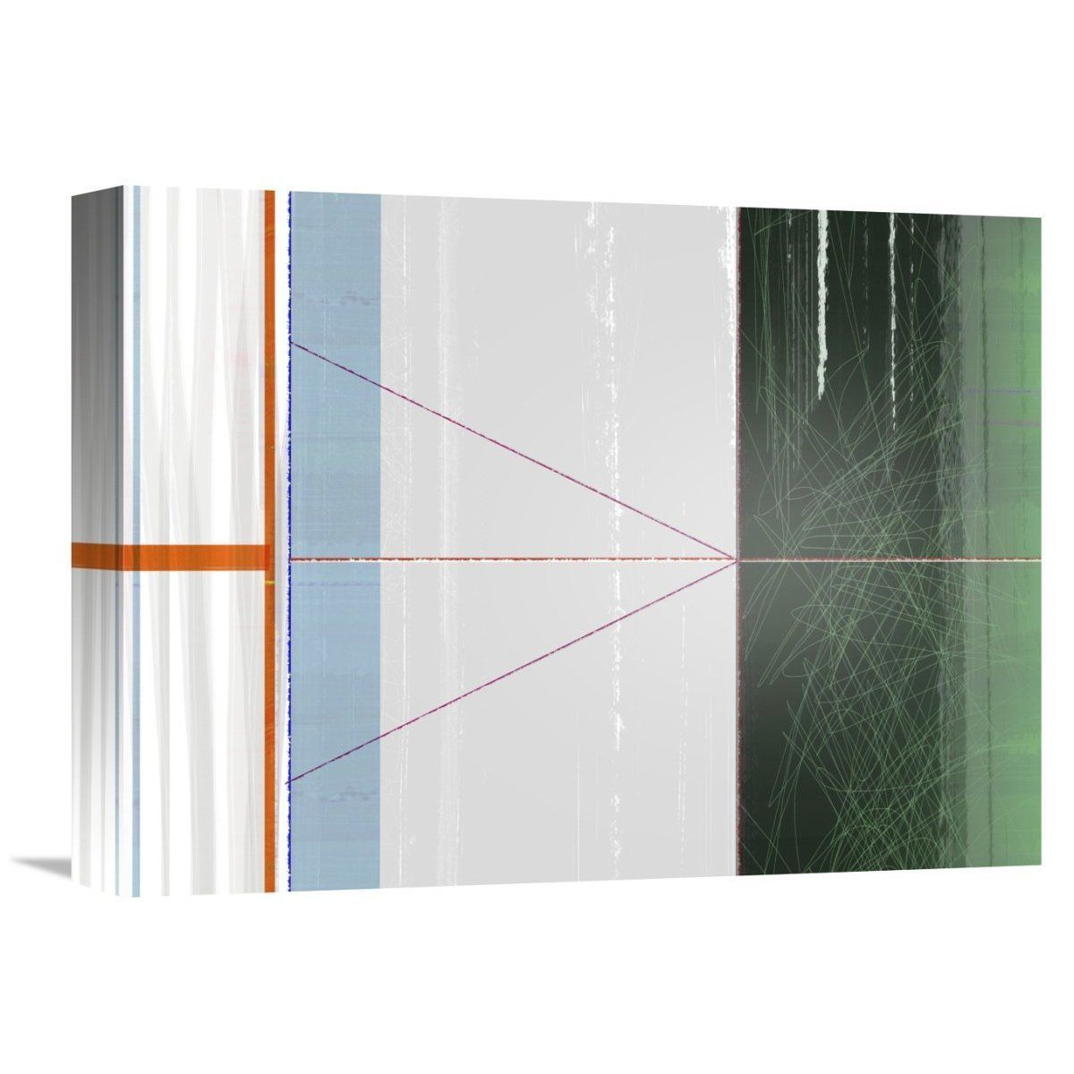 Naxart Studio 'Abstract And Green' Stretched Canvas Wall Art