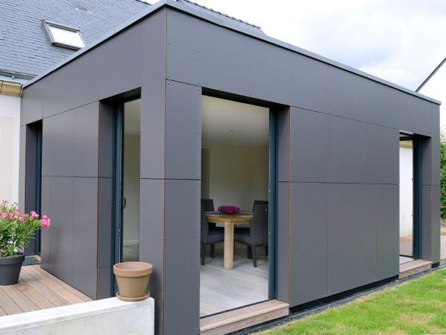 avant apr s un pavillon agrandi et transform par l 39 ajout d 39 un cube extension pinterest. Black Bedroom Furniture Sets. Home Design Ideas