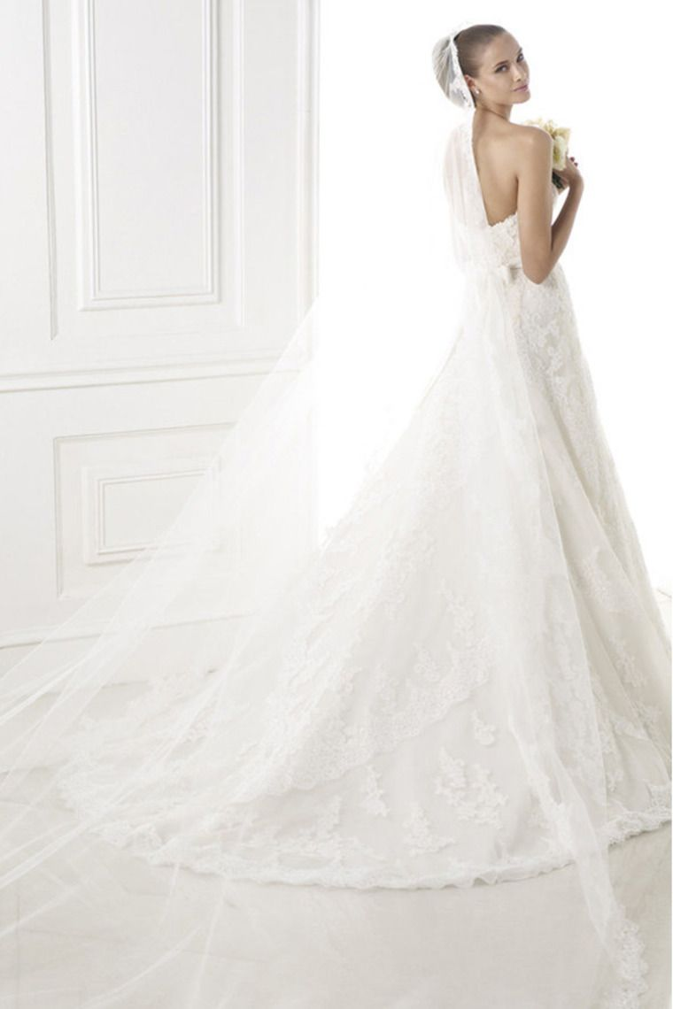 smart wedding dress sweetheart a line court train with applique