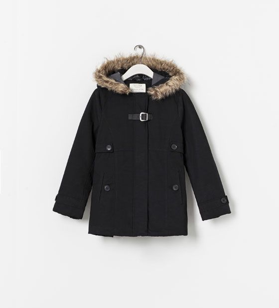 ZARA - NEW THIS WEEK - COAT WITH DETACHABLE FUR