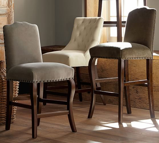 Pleasing Upholstered Bar Stools A New Trend For Your Home Stools Machost Co Dining Chair Design Ideas Machostcouk