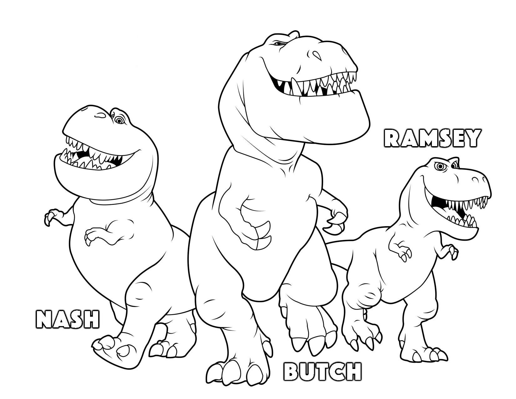 Dinosaurs coloring games online - The Good Dinosaur Butch Ramsey Nash Coloring Pages Kids Coloring Pages