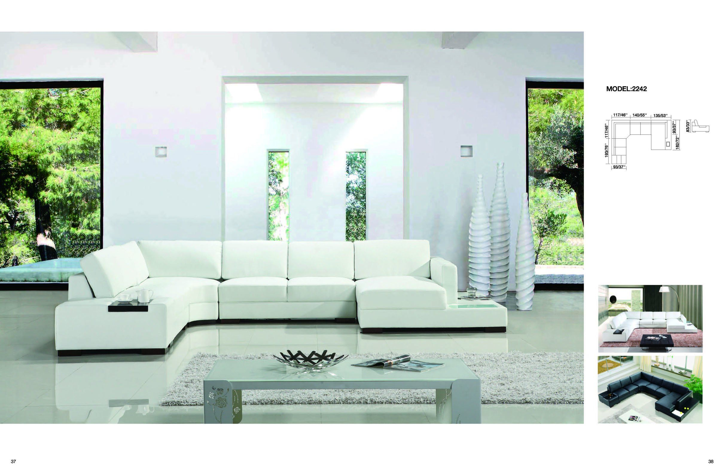 Fine Luxury White Genuine Leather Sectional Sofa Set With Light Forskolin Free Trial Chair Design Images Forskolin Free Trialorg