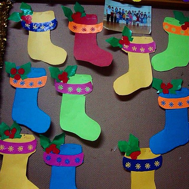 christmas socks craft (2) | Christmas | Pinterest