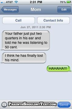 Latest Funny Texts Top 23 funny texts from parents Top 23 funny texts from parents 3