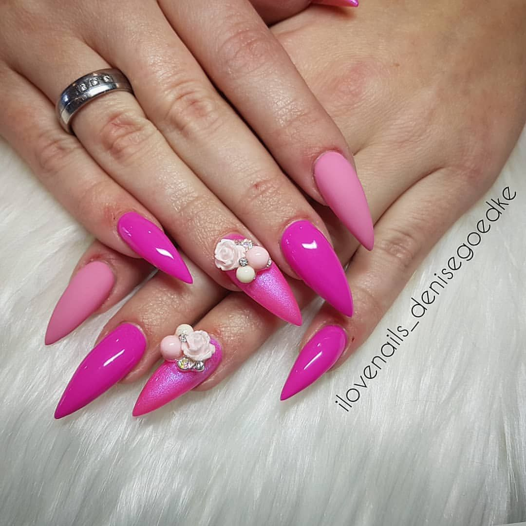 PINKNAILS ______ #nails #stiletto #nail #beauty #ilovenails ...