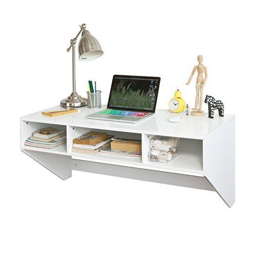 SoBuy® Tavolo da parete, Scrivania,Mensola a muro,bianco,FWT14-W,IT ...