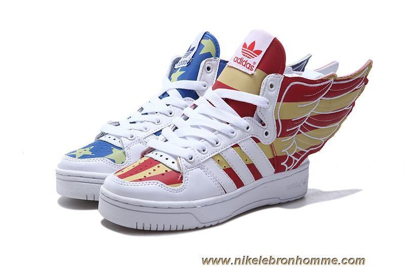 new concept 0085b ed090 get chaud adidas x jeremy scott wings 2.0 usa flag chaussures glow in dark  f9276 9c7c3