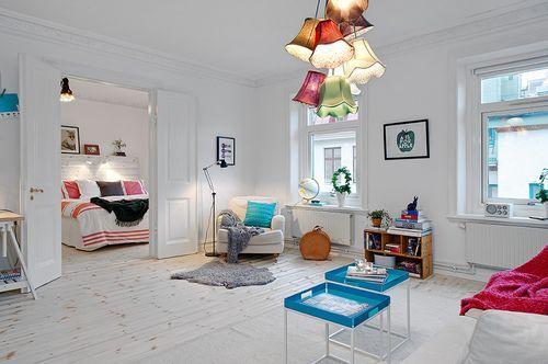 Decor de um apartamento em Estocolmo