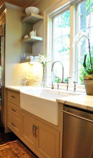 50 ideas for kitchen sink area open shelving kitchen home kitchens on kitchen sink ideas id=98816