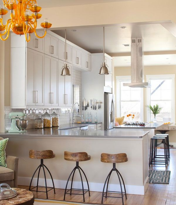 47 Incredibly Inspiring Industrial Style Kitchens: Style Inspiration: Industrial Bar Stools