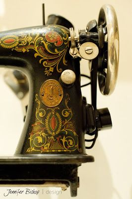 Close up of the detail on a vintage singer. They don't decorate them like that any more! | GoodEye Photography + Design