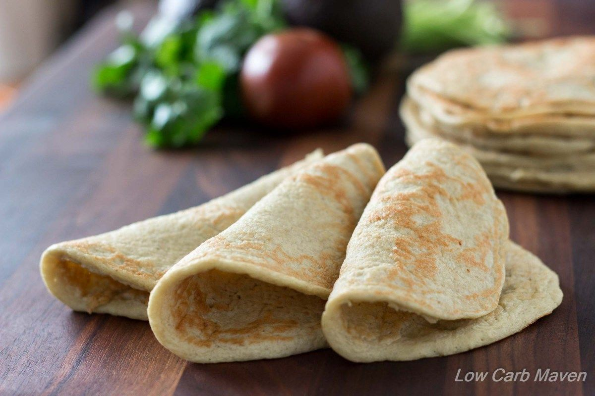 Almost zero carb wraps are great as soft tortilla shells