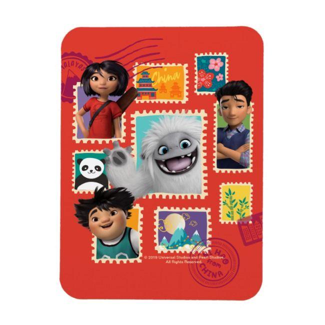 Everest Yi Jin  Peng Travel Stamp Collage Magnet