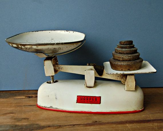 English Harper Kitchen Balance Scales And Weights Kitchen Scale Retro Kitchen Weighing Scale
