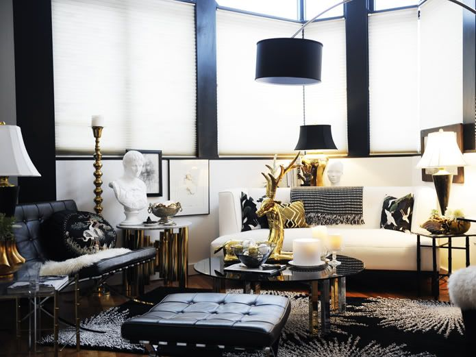 Decor Inspiration Old Hollywood Glamour Gold Living Room Decor