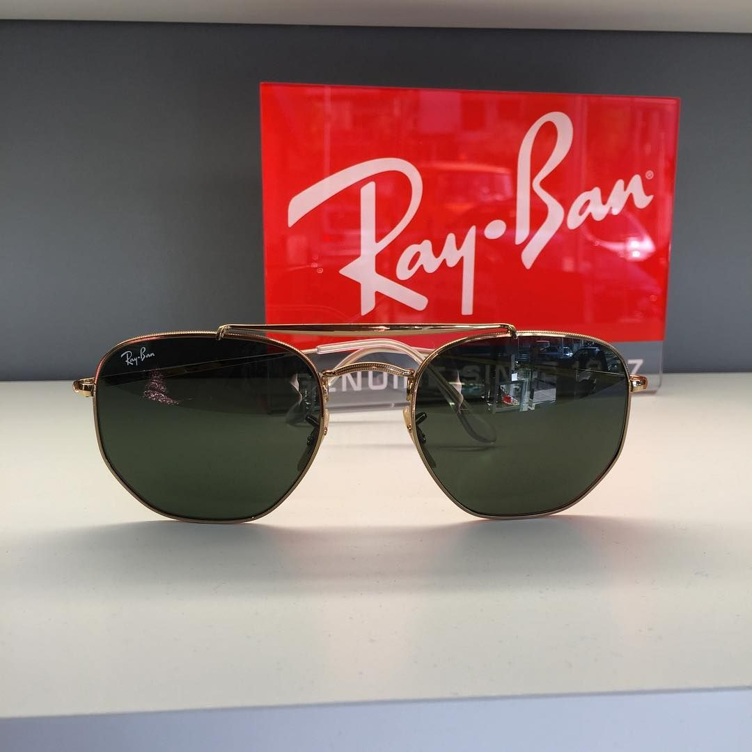 2d7dcb6c9b New polygonal  rayban  sunglasses  2018 gold with crystal lenses ...