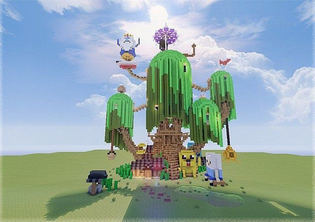 Adventure Time Tree House Minecraft Map Adventure Time