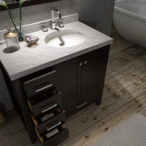 48 Bathroom Vanity With Offset Sink | 42 inch bathroom ...