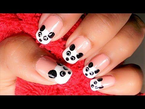Cute Easy Panda Nail Art Animal Nail Art Design Animal And