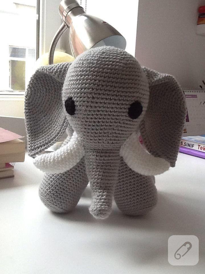 Amigurumi fil yapımı   Amigurmi   Pinterest   Stricken häkeln ...