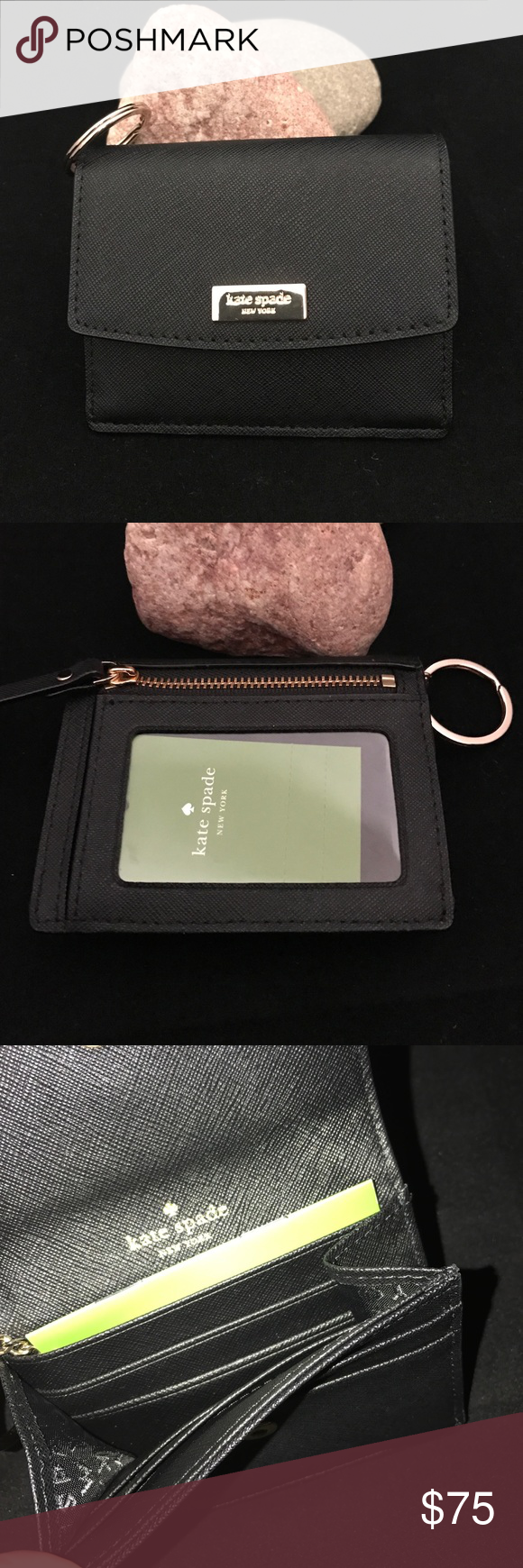 Kate Spade Laurel Way Petty NWT/Black Kate Spade Laurel Way Petty NWT/Black. ✅ALWAYS OPEN TO OFFERS-unless marked firm on price ✅OFFERS SHOULD BE MADE THROUGH POSH OFFER FEATURE ✅PRICES NOT DISCUSSED IN COMMENTS  ✅FEEL FREE TO ASK ANY QUESTIONS  ✅Photos from the Internet could vary slightly from the item that is being shipped  ❎NO TRADES. MSRP $89+tax kate spade Accessories Key & Card Holders