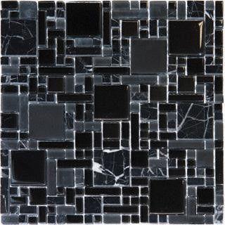 black marble glass mixed mini pattern glass mosaic tile bathroom tile dc metro