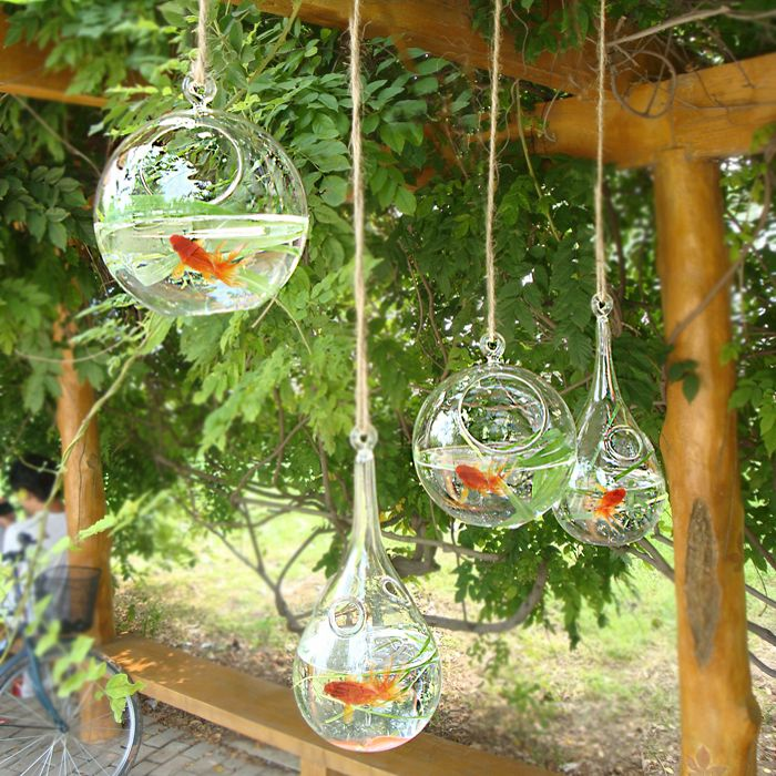 11 Home Decoration Drop Transparent Glass Fish Tank