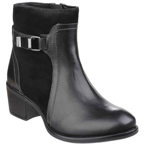 a3ba9b54a44 Hush Puppies Fondly Nellie Womens Black Ankle Boot A classic ankle boot in  a beautiful combination