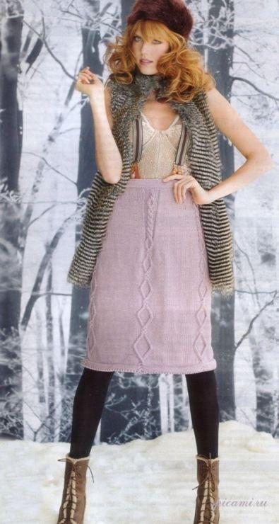 вязать спицами юбку четырехклинку со схемой