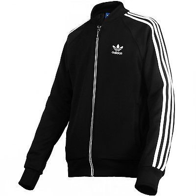 ADIDAS SUPERSTAR TRACK TOP MENS S19175 Black White Zip