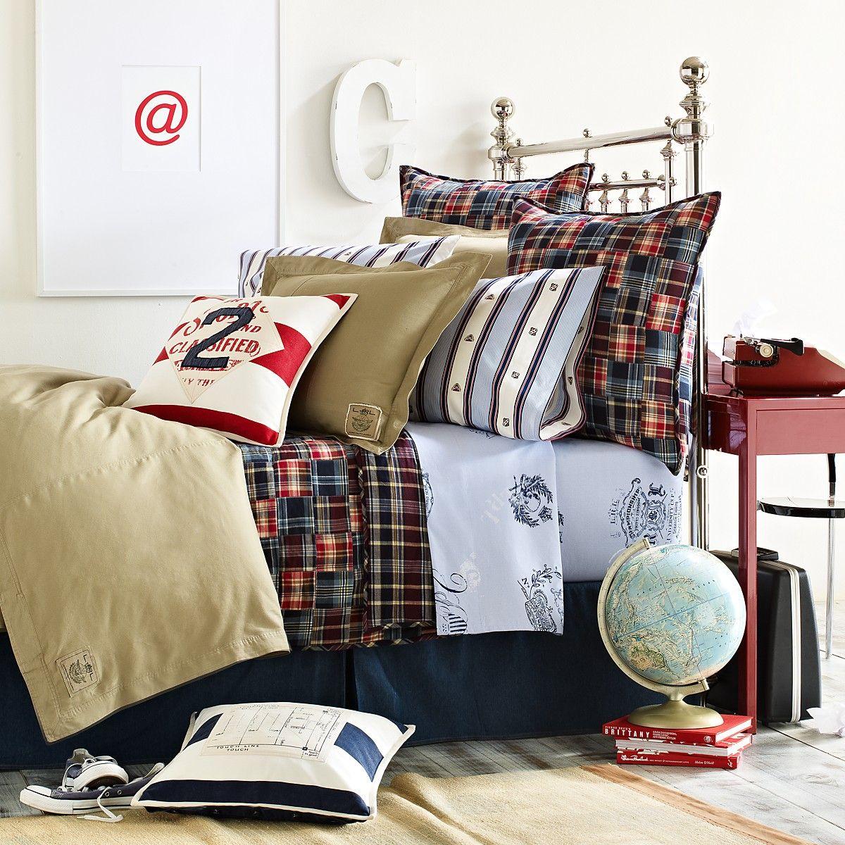 Boy plaid bedding - Lauren By Ralph Lauren University Boy Bedding Bloomingdale S