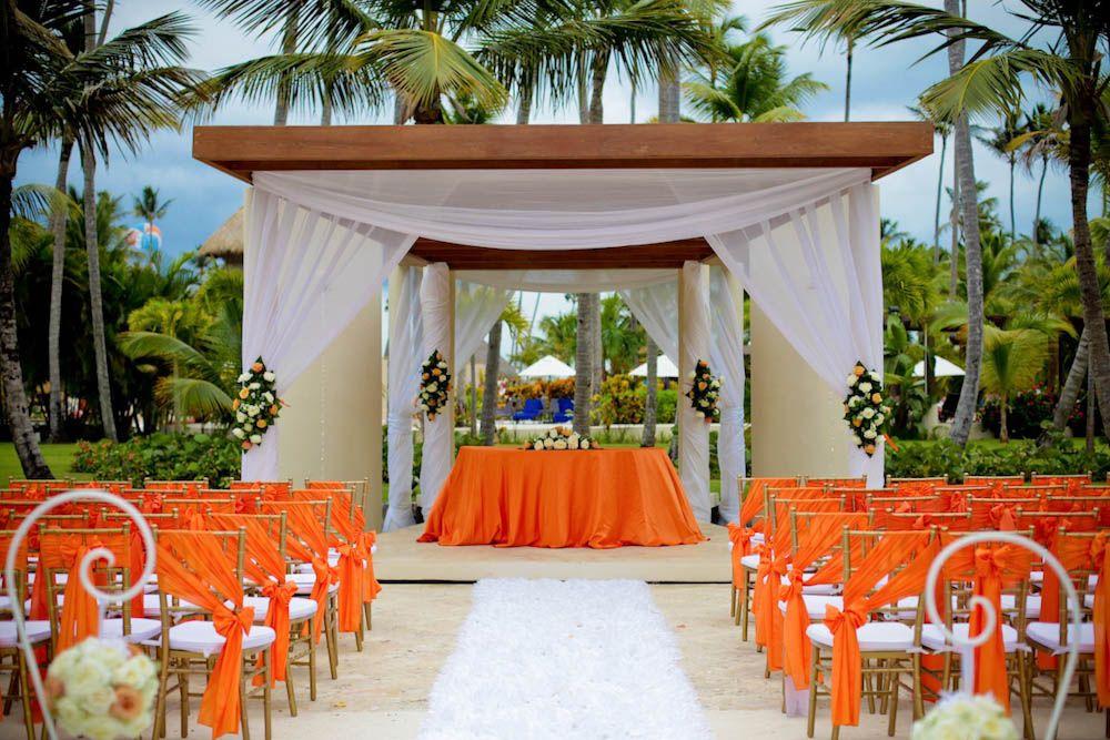 Fountain Ceremony Now Larimar Wedding Decorations Destination Wedding Orange Wedding