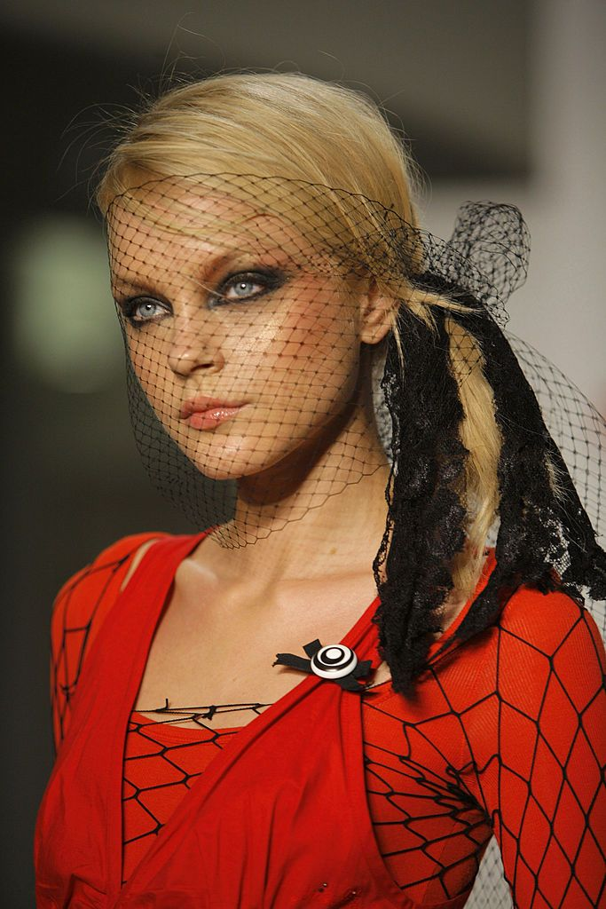 Jessica Stam wearing Miss Sixty Spring 2007 at the
