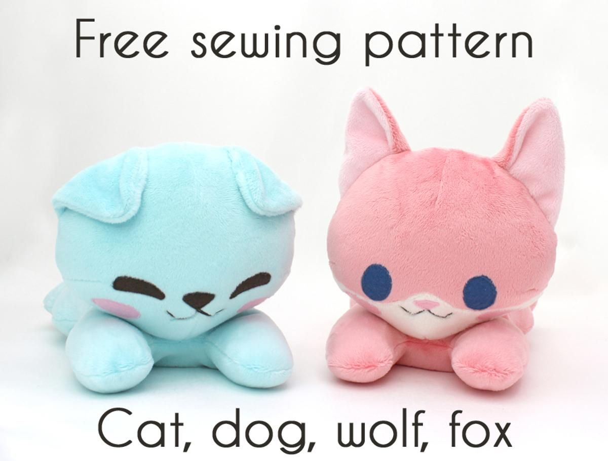 Free fox cat dog wolf stuffed animal toy pattern | Craftsy