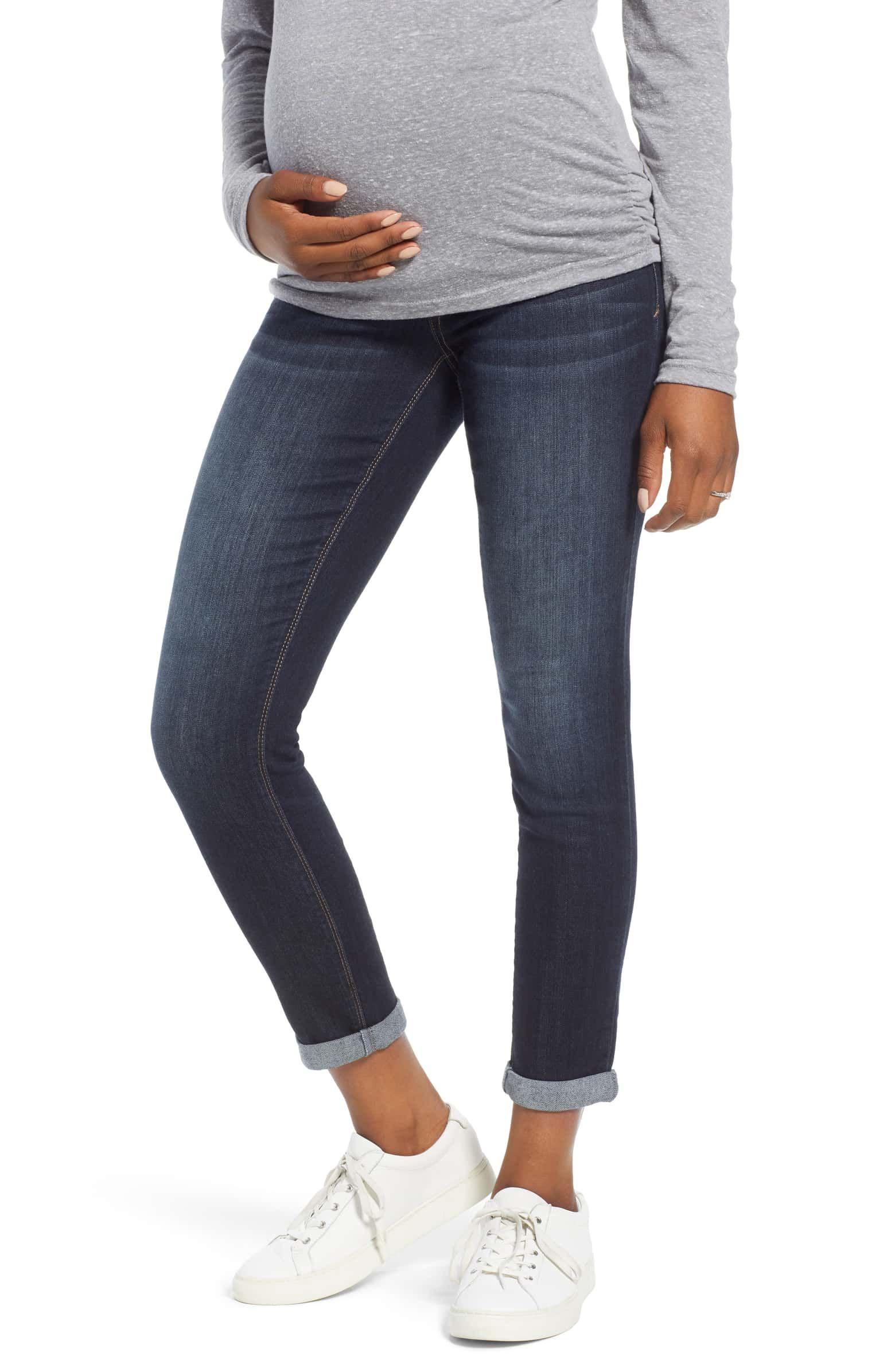 5e7092a15b2 Roll Cuff Maternity Skinny Jeans, Main, color, ERICA | Trunk in 2019 ...