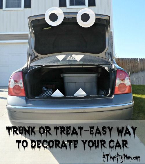 trunk or treat easy way to decorate your car trunkortreat halloween - Car Decorations For Halloween
