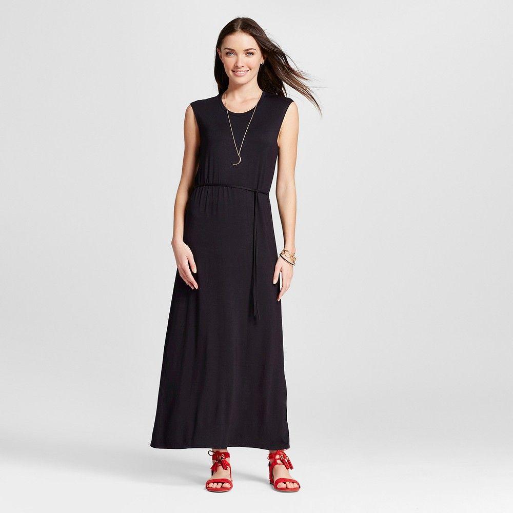 Women's Short Sleeve Maxi Black Xxl - Merona, Ebony
