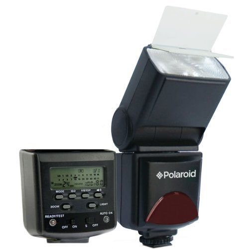 Polaroid PL-144AZ Studio Series Digital Power Zoom TTL Shoe Mount AF Flash With LCD Display For The Nikon D40, D40x, D50, D60, D70, D80, D90, D100, D200, D300, D3, D3S, D700, D3000, D5000, D3100, D3200, D7000, D5100, D4, D800, D800E, D600, P7700, P7100 Digital SLR Cameras by Polaroid, http://www.amazon.com/dp/B003ZZYGYS/ref=cm_sw_r_pi_dp_YSpprb0BEQ7VV