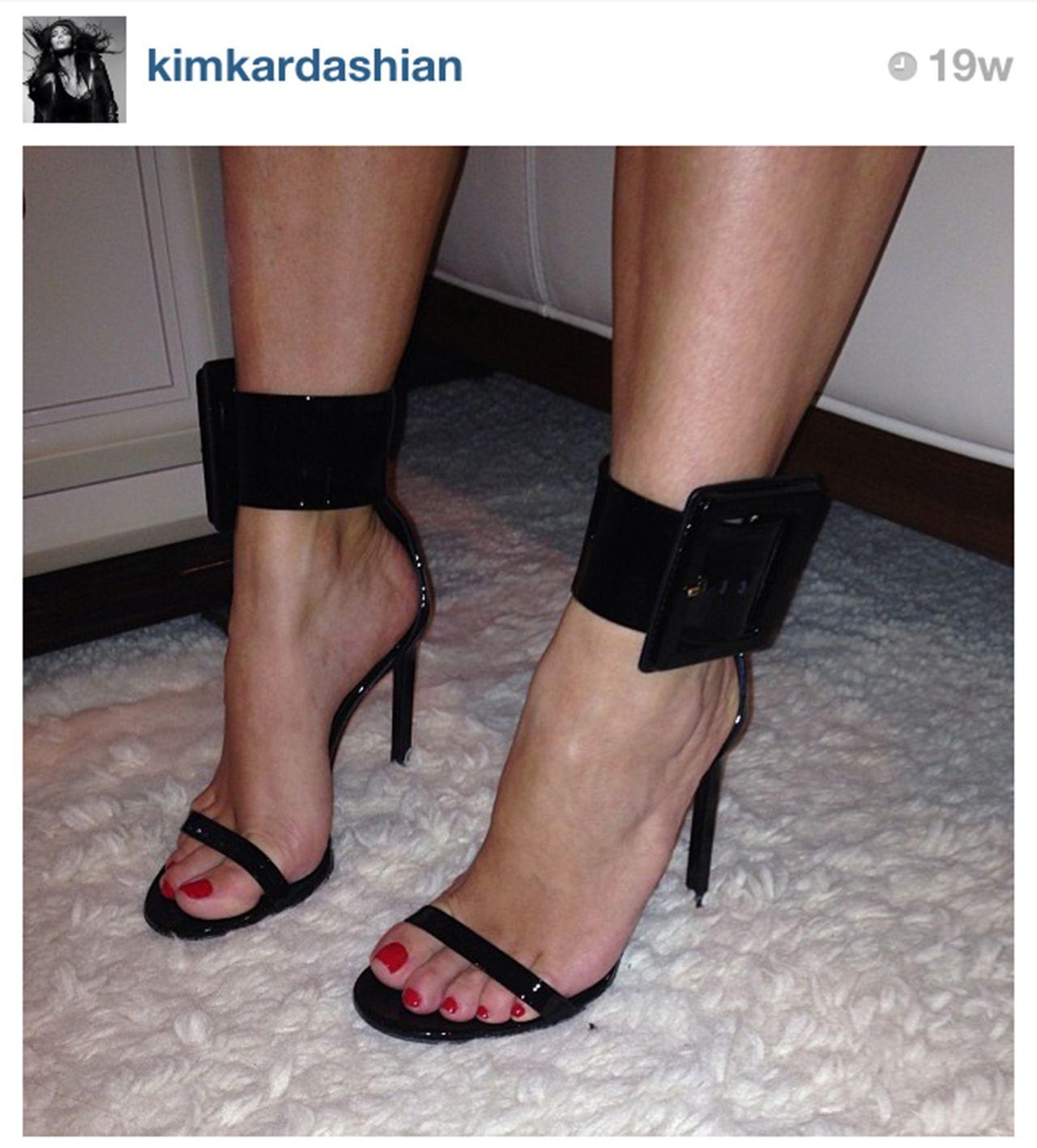 9647637f64f Kim Kardashian in Gucci Victoire Sandals: 20 Best Celebrity Shoe ...