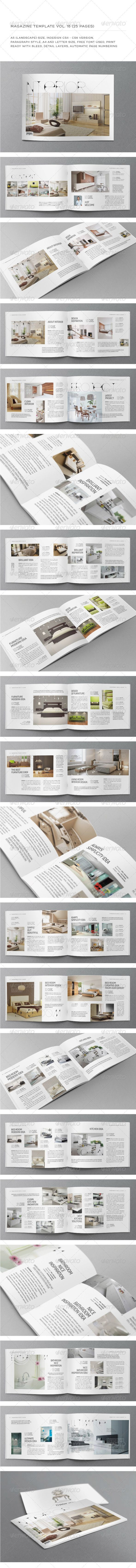 A5 Landscape 25 Pages mgz (Vol. 16)   Indesign templates, Template ...