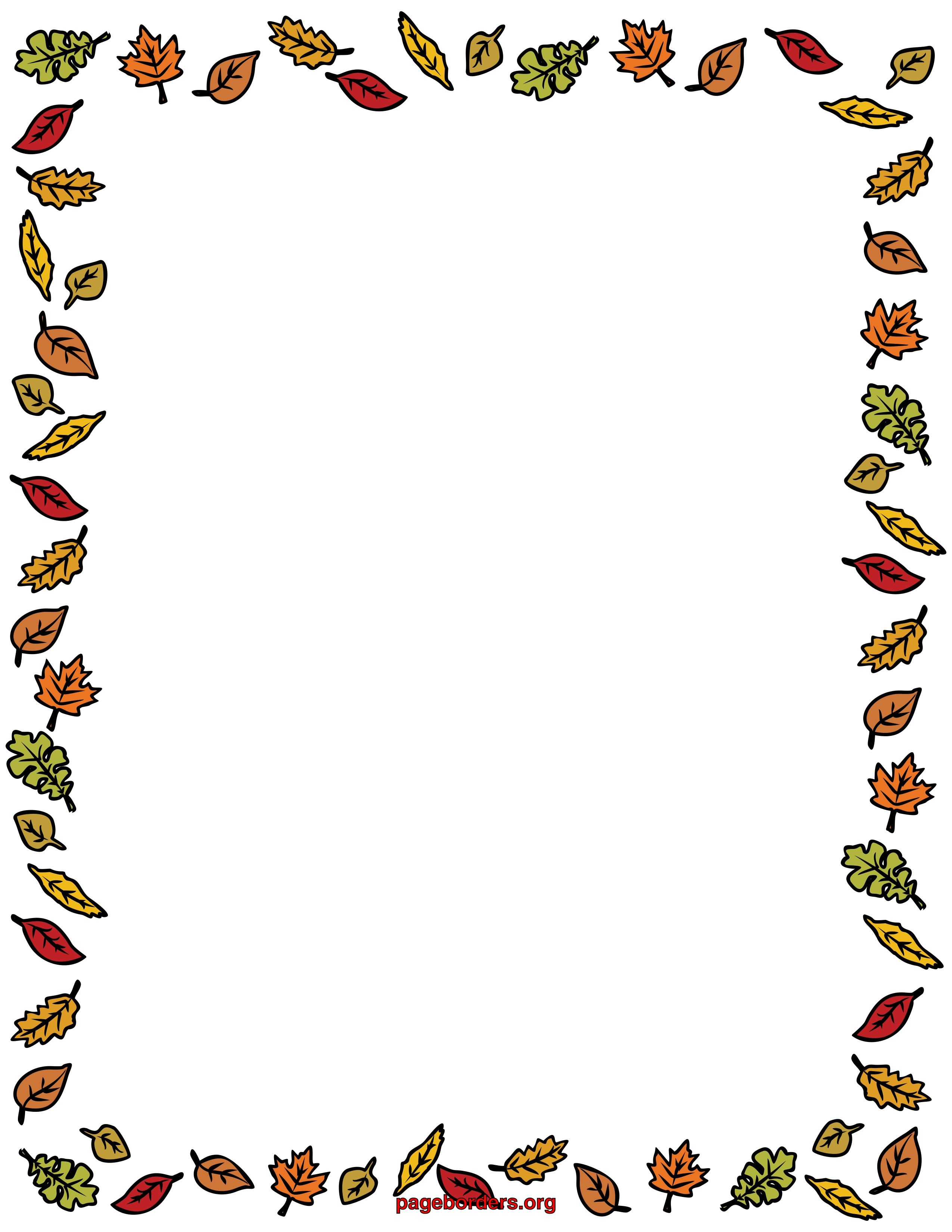 47+ Fall leaves page border clipart ideas