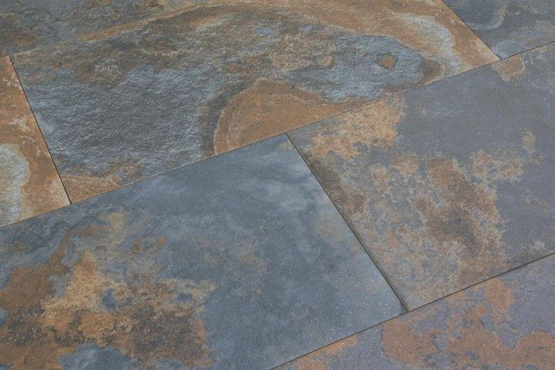 Bengal Rust Slate Effect Porcelain Tiles 30x60cm Tons Of
