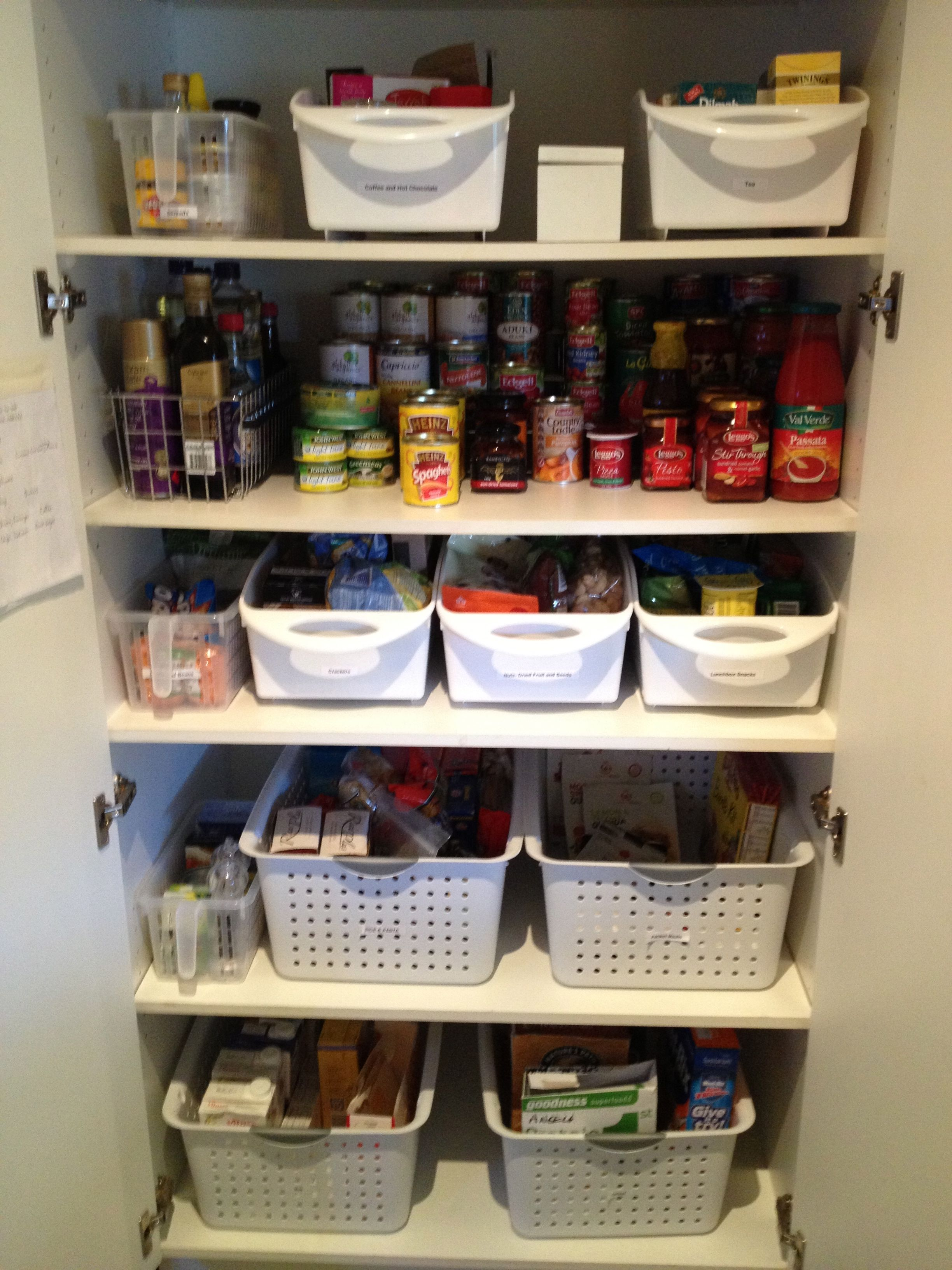 Organising a kitchen pantry with deep shelves kitchen for Organization ideas for kitchen pantry