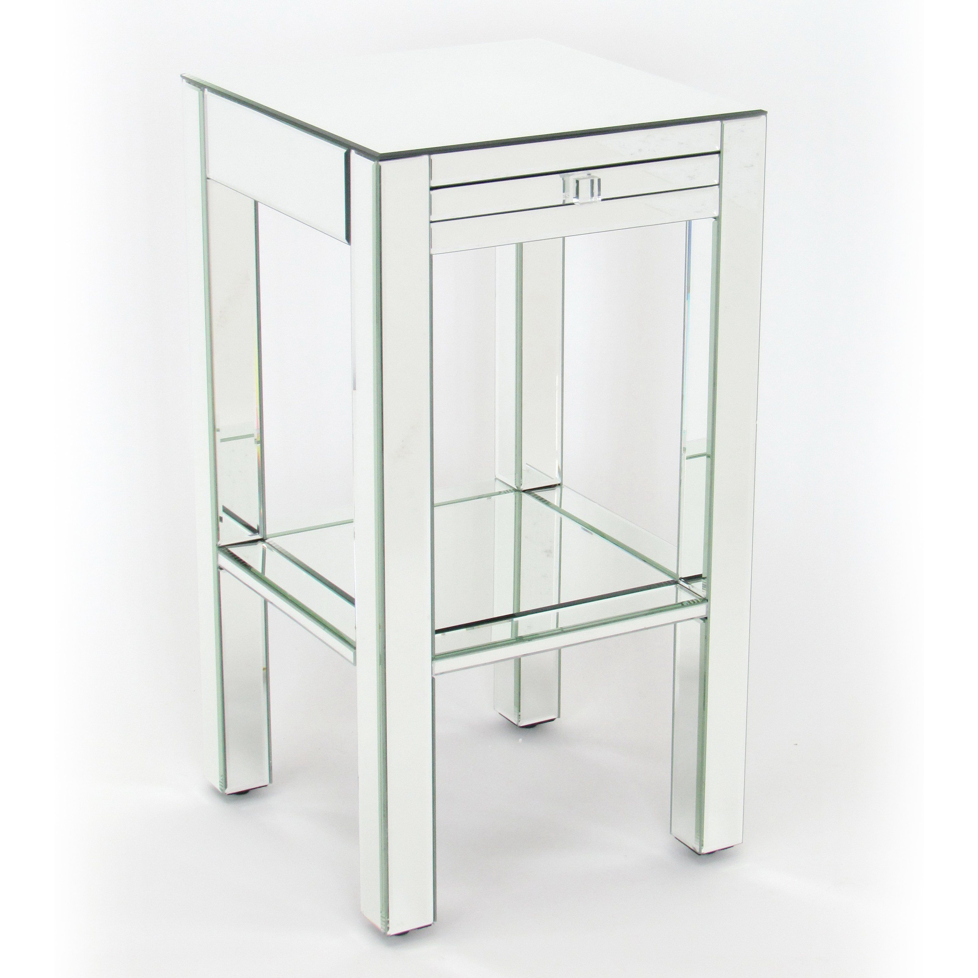 table full frame with chrome side bed elegant nightstands metal silver interior for three of two best well glass furniture round as six knob drawer bedside legs tables size drawers bedroom knobs and contemporary modern plus mirror