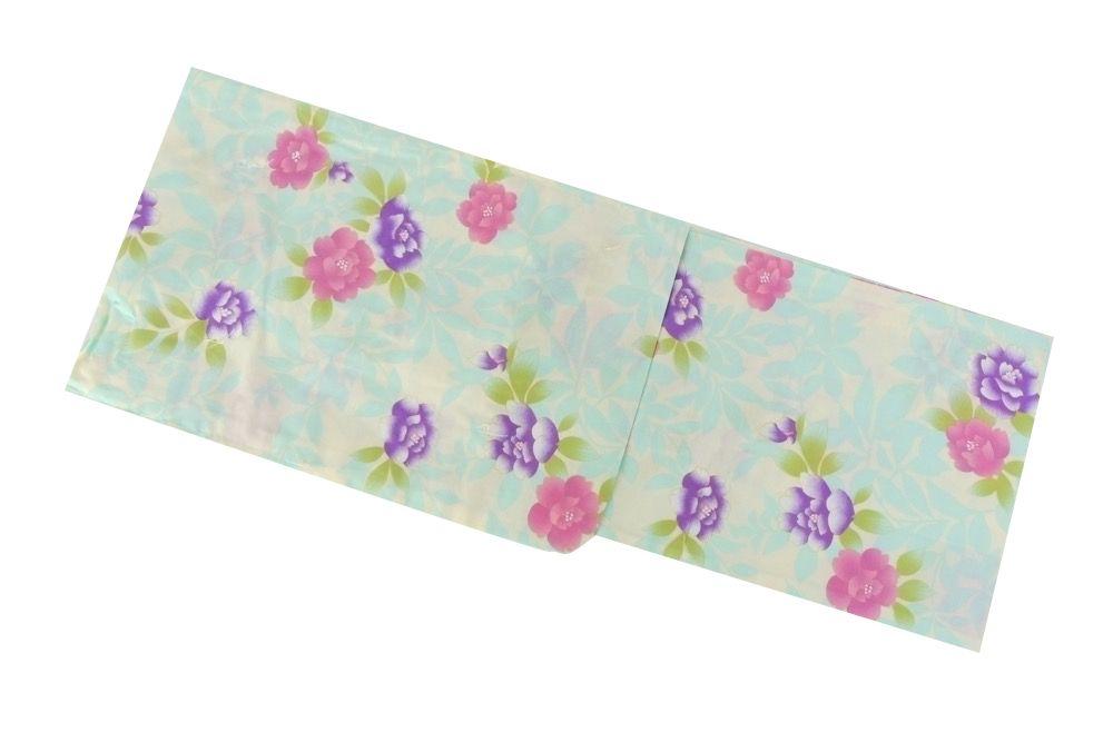 クリーム×水色×紫(バラ)