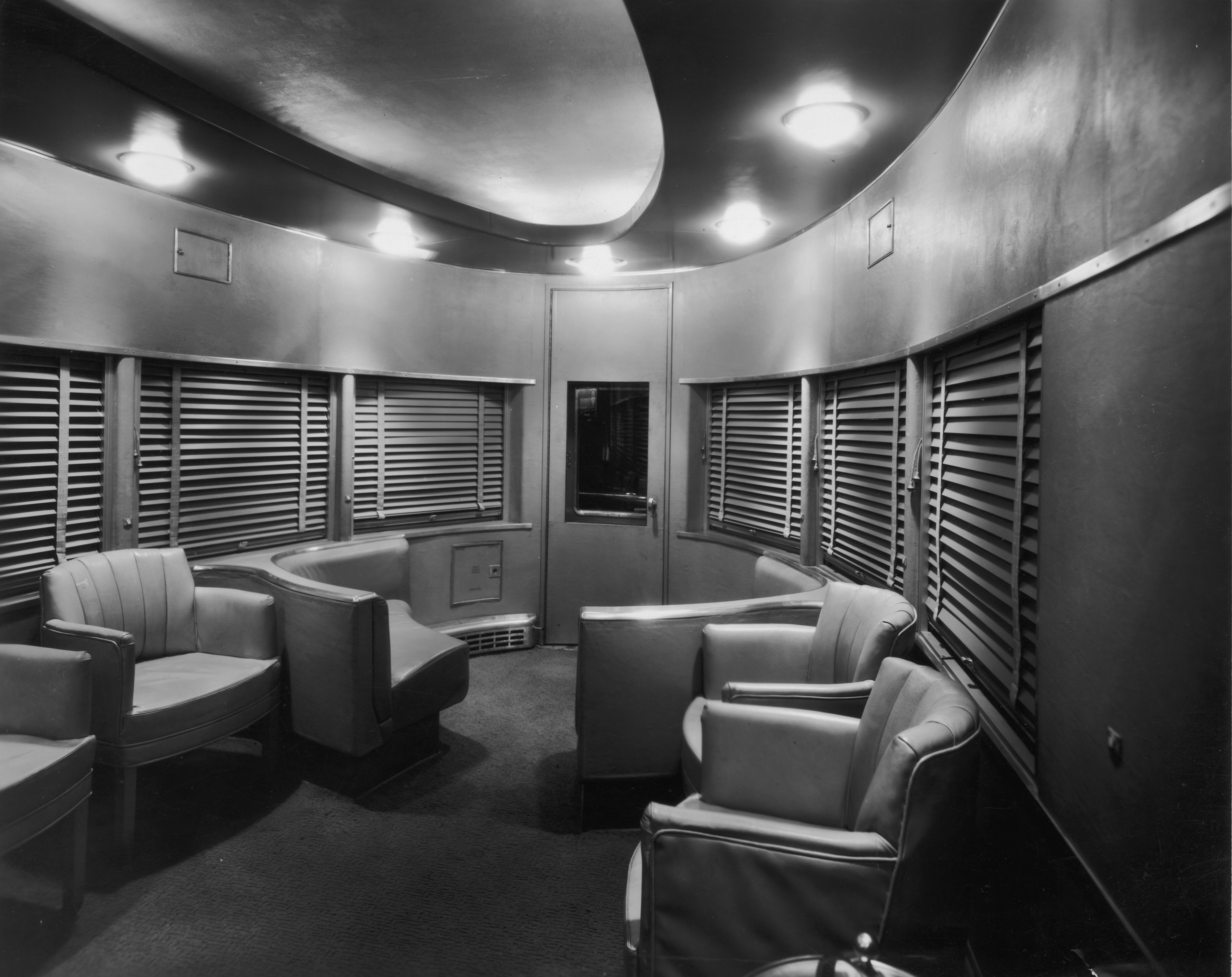 Observation car of the 20th century limited designed by for Room design zug