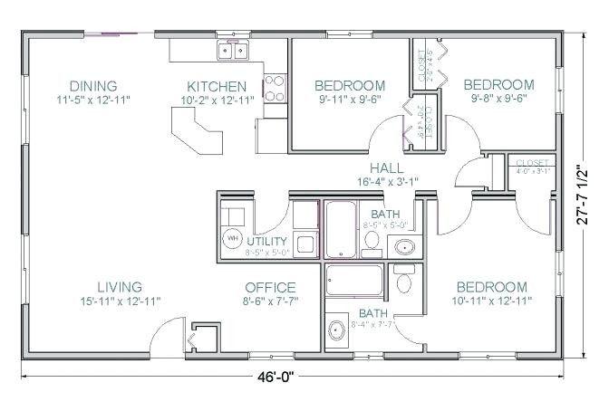 17 Elegant 1200 Sq Ft House Plans 2 Bedroom Pics