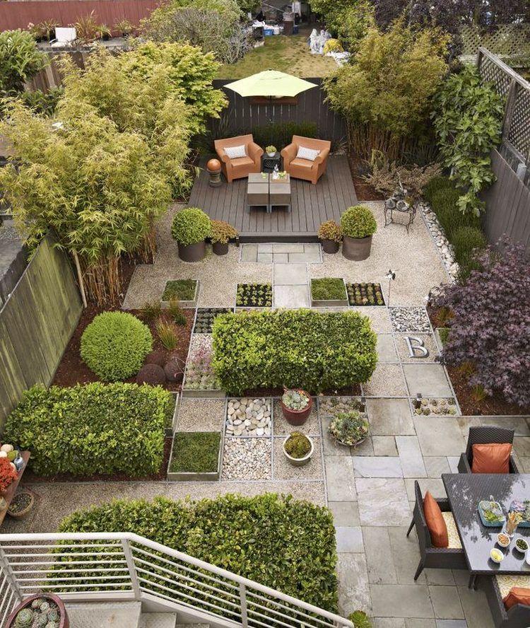 Gartenplanung ideen vogelperspektive hinterhof for Ideen gartensitzplatz