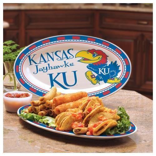 Kansas Jayhawks KU Ceramic Platter
